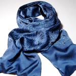 lined and printed silk scarves